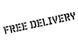Free delivery stamp. Grunge design with dust scratches. Effects can be easily removed for a clean, crisp look. Color is easily changed Stock Image