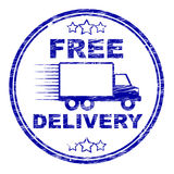 Free Delivery Stamp Represents With Our Compliments And Complimentary Royalty Free Stock Photo