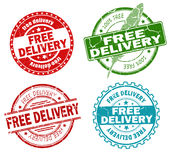 Free delivery stamps Royalty Free Stock Photography