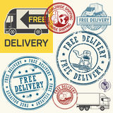 Free delivery stamps or tags set Royalty Free Stock Photos