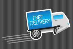 Free delivery sticker Royalty Free Stock Photos