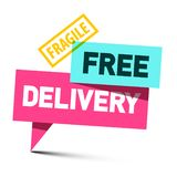 Free Delivery Symbol. Isolated on White Background royalty free illustration