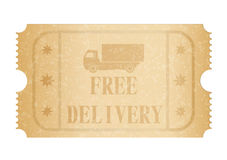 Free delivery ticket Stock Photography