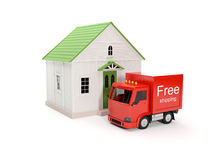 Free delivery to your home Stock Photos