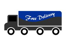 Free Delivery Truck. Free delivery lorry truck vehicle icon royalty free illustration