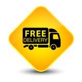 Free delivery truck icon elegant yellow diamond button Stock Photo