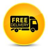 Free delivery truck icon elegant yellow round button Stock Photo