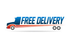 Free delivery truck image logo Stock Images
