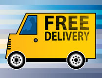 Free Delivery truck Stock Photos