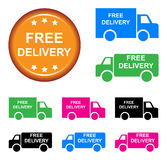 Free delivery truck vector illustration