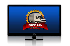 Free delivery tv Stock Photos