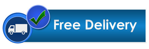 Free Delivery Two Blue Circles stock illustration