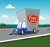 Free delivery vehicle background Stock Photo