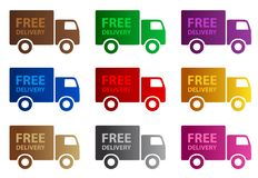 Free Delivery web graphics Royalty Free Stock Photos