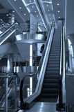 Free diagonal escalators stairway Royalty Free Stock Image