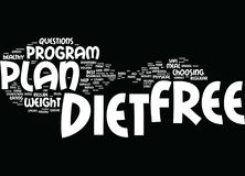 Free Diet Plans How Can You Find The Best One Word Cloud Concept. Free Diet Plans How Can You Find The Best One Text Background Word Cloud Concept Stock Photography
