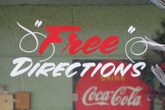 Free Directions, Drink Coca-Cola Royalty Free Stock Photography