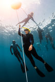 Free diver Royalty Free Stock Photo