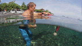 Free divers training stock video footage