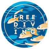 Free Diving and snorkeling design concept and fins flat vector illustration. Free Diving and snorkeling badge and logo design concept and fins flat vector Royalty Free Stock Images