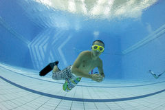 Free diving training Royalty Free Stock Photos