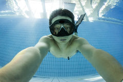 Free diving training Royalty Free Stock Photography