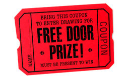 Free Door Prize stock photo