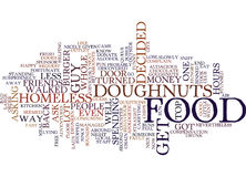 Free Doughnuts Text Background  Word Cloud Concept Stock Photography