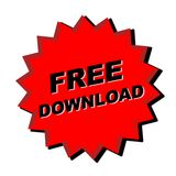 Free download Sign. Red free download sign - web button - internet design Royalty Free Stock Photo