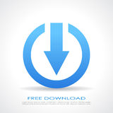 Free download symbol. Vector illustration Royalty Free Stock Photos