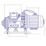 Free drawing of a refrigerating machine. Vector drawing Royalty Free Stock Photos