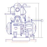 Free drawing of a refrigerating machine. Vector drawing Stock Photography