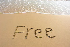 Free drawn on the beach Stock Images