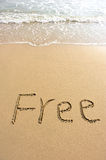 Free drawn on the beach Royalty Free Stock Images