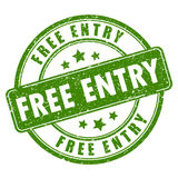 Free entry rubber stamp Royalty Free Stock Photos