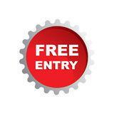 Free entry rubber stamp on white background, vector illustration royalty free illustration