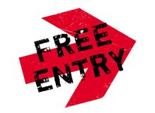 Free entry stamp Royalty Free Stock Photo