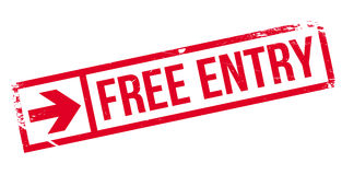 Free entry stamp Royalty Free Stock Image