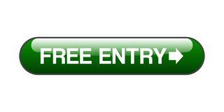 Free entry button. Free entry web button - computer generated illustration on isolated white background vector illustration