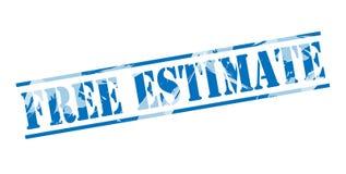 Free estimate blue stamp. On white background Royalty Free Stock Image