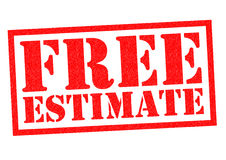 FREE ESTIMATE. Red Rubber Stamp over a white background Royalty Free Stock Photos