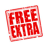 Free extra red stamp text. On white vector illustration