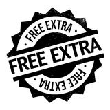 Free Extra rubber stamp. Grunge design with dust scratches. Effects can be easily removed for a clean, crisp look. Color is easily changed royalty free illustration