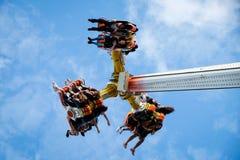 Free fall on fair ride