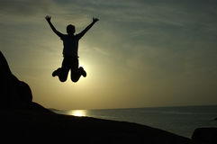 Free Fall or Jump for Joy?  Ko Samui, Thailand Stock Photos