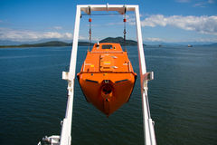 Free fall life boat Stock Photography