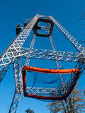 Free fall tower in amusement park Royalty Free Stock Photography