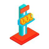 Free fall tower isometric 3d icon. On a white background Royalty Free Stock Image