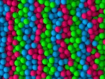 Free falled spheres. Free falled and colored spheres Royalty Free Stock Photos
