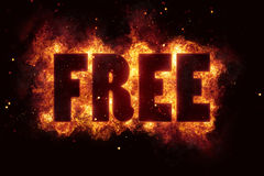 Free fire text flame flames burn burning hot explosion. Explode Stock Photo